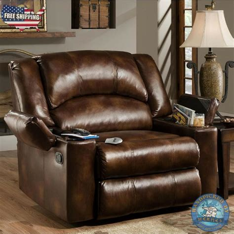 Oversized Recliners by Bonded Leather Oversized Recliner W Storage Home
