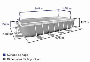 Preparation Terrain Pour Piscine Hors Sol Tubulaire : piscine tubulaire rectangulaire intex 9 75x4 88x1 32 m ~ Melissatoandfro.com Idées de Décoration