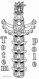Totem Pole Coloring Pages Printable Alaska Sheet Poles Template Templates Apache Native American Cool2bkids Totems Tiki sketch template