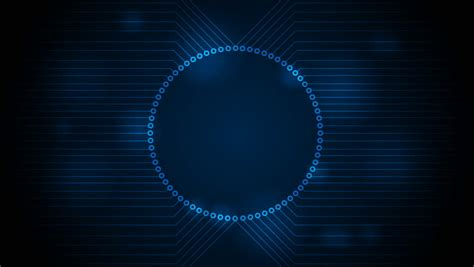 Blue Tech Circuit Board Technology Animated Background