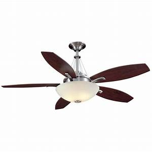 Hampton bay brookedale quot ceiling fan brushed nickel