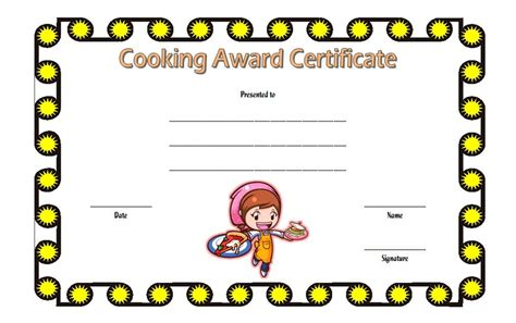 cook with us free template cooking contest certificate template best 10 templates