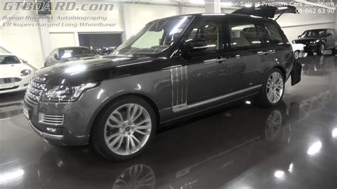 sale range rover sv autobiography  supercharged