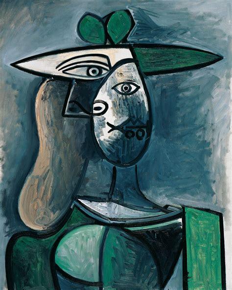 pablo picasso frau mit gruenem hut woman   green hat