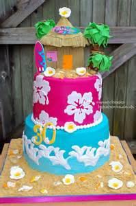 Hawaiian Cake Decorations by Luau Tiered Cake Cakes Cupcakes Amp Cake Pops Pinterest