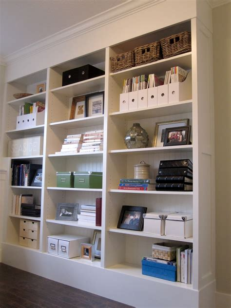3 Ikea Billy Bookcases On A Base Tricked Out With Mdf To