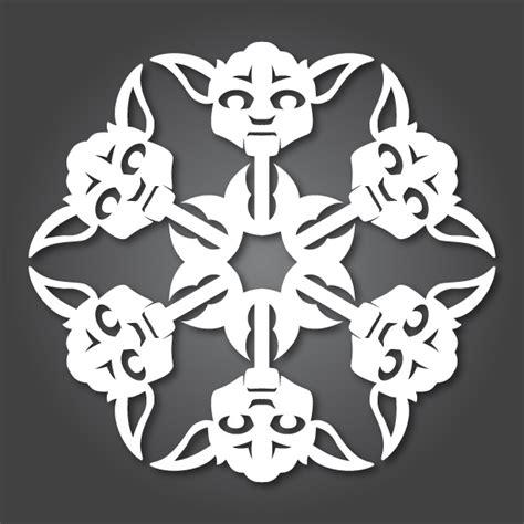 star wars snowflake it s snowing wars 10 new diy wars paper snowflake templates if it s hip it s here