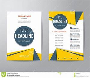 Simple Triangle And Circle Brochure Flyer Design Layout