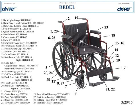 health chair manual rebel wheelchair replacement parts parts for rtlreb18dda