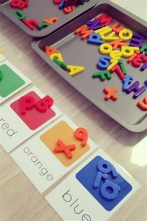 fun reading games  magnetic letters  images