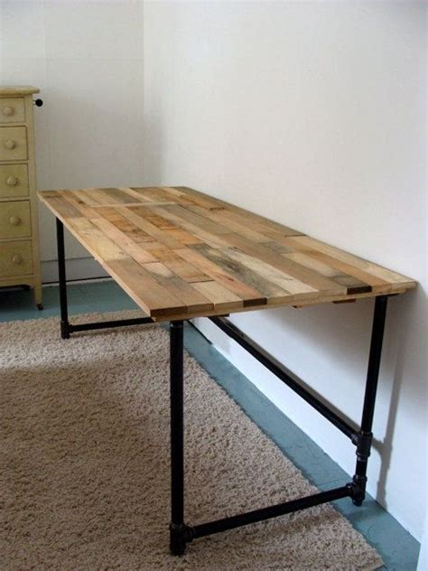 salvaged wood  pipe desk  riotousdesign  etsy  usd  etsy noted pipe desk