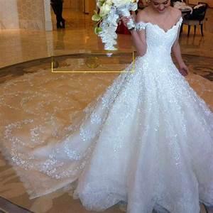 luxury wedding dress 2016 royal train off shoulder bridal With luxury wedding dresses