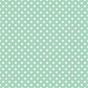 Polka dots on fresh mint green background retro seamless ...