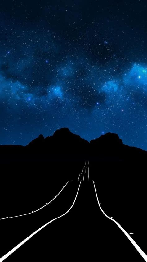 Background Iphone X Wallpaper by Starry Sky Road Iphone Wallpaper Iphone Wallpapers