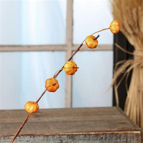 Fall Artificial Pumpkin Stem  Picks And Stems  Floral Supplies  Craft Supplies