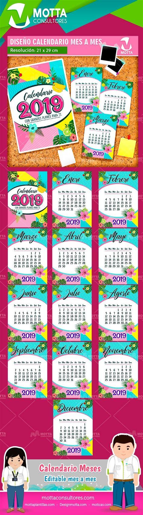 diseno de calendario tamano carta imprimir