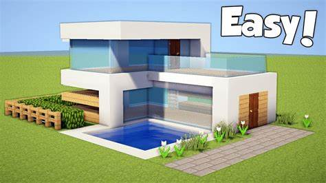 Minecraft: How to Build a Small & Easy Modern House - Tutorial (#20) - RazorXGamer