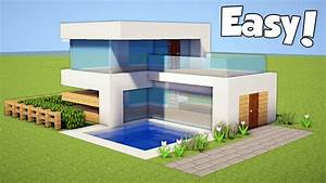 Minecraft: How to Build a Small & Easy Modern House ...
