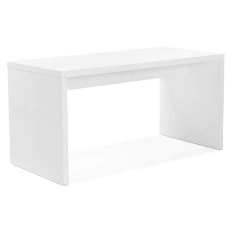 bureau droit design navigo en bois blanc laqué