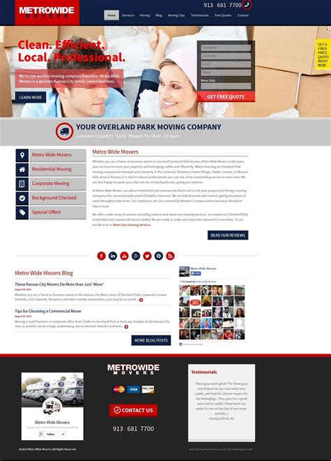 kansas city web design kansas city movers moving company web design
