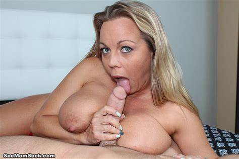 Mother Blowing A Harden Immense Shaft Amber Bach Blowie Her Step Sons Big Pole