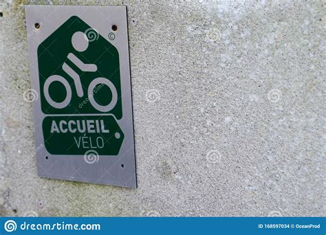 Accueil Velo Means In French Bike Cycle Bikers Welcome ...
