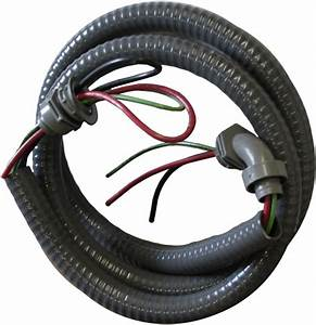 Water Proof Electrical Whip  8 Wire 3 Conductor 3  4 U0026quot  X 6ft