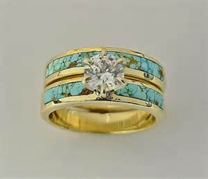 turquoise wedding ring sets wedding engagement rings southwest wedding rings turquoise wedding rings inlay wedding rings