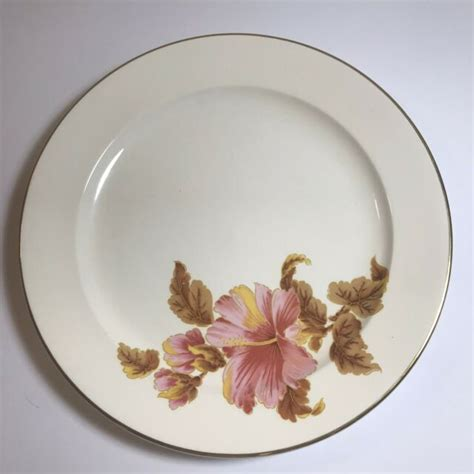 laughlin homer china trim plate usa