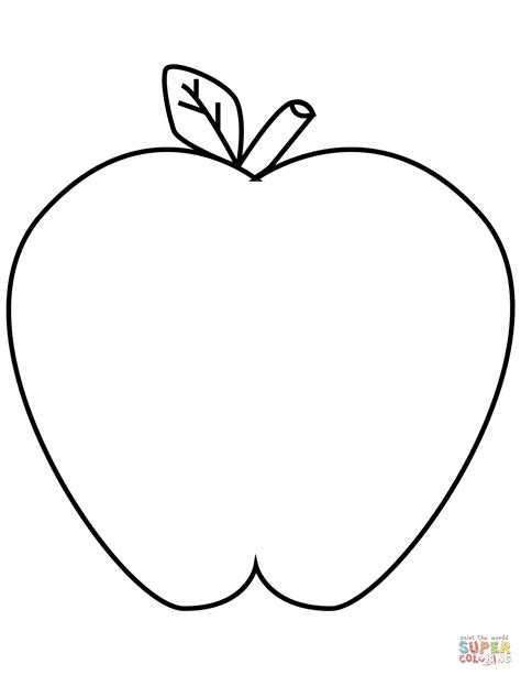 Green Apple Coloring Page Free Printable Coloring Pages