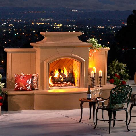gas outdoor fireplace american fyre designs grand mariposa 113 inch outdoor