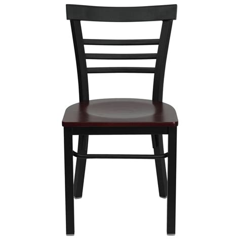 ladder back bentwood style metal frame side chair fl6q6b1c