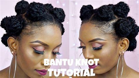 bantu knot tutorial  extensions  short