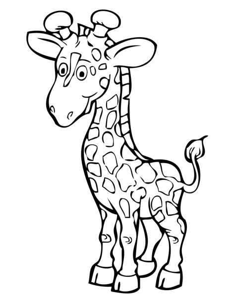 giraffe coloring pages getcoloringpagescom