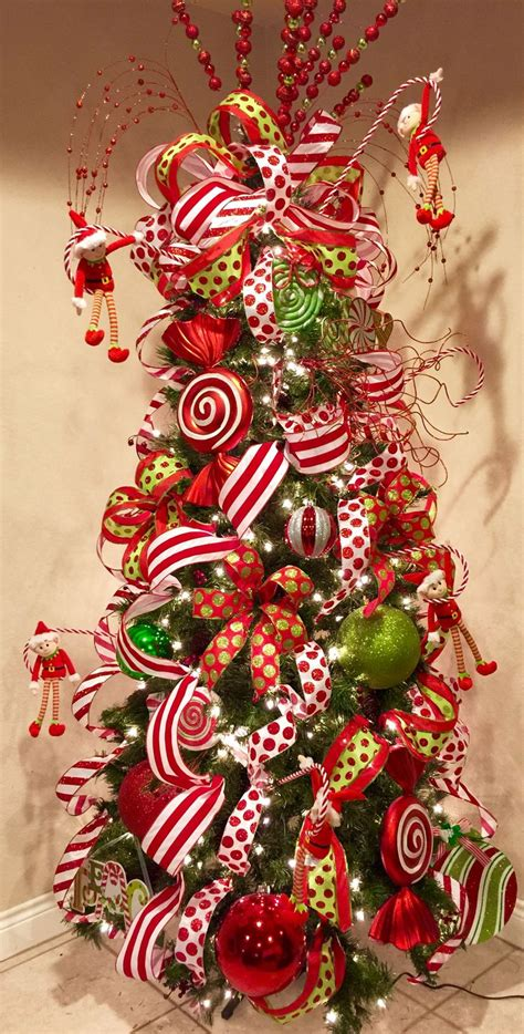 striped ribbon decoracion arbol de navidad