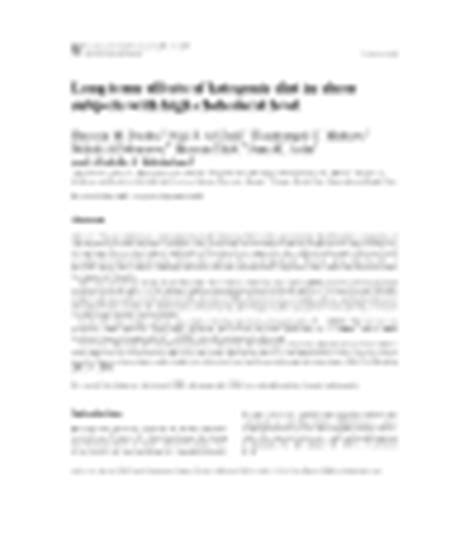 long term effects  ketogenic diet  obese subjects