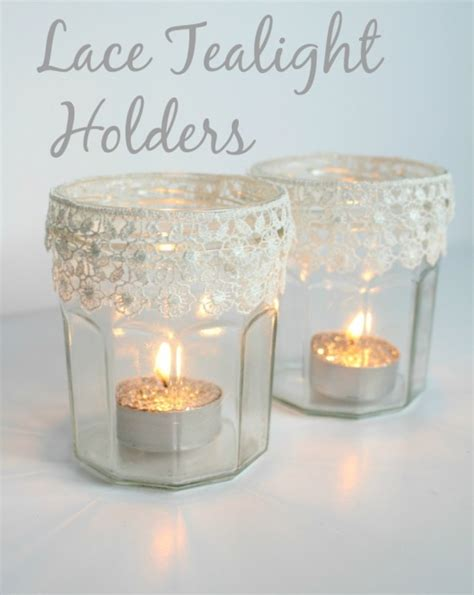 lace tealight holders  claireabellemakes project
