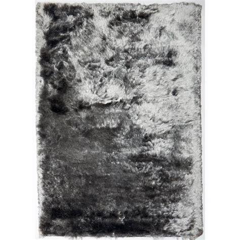 tapis longs poils shaggy fin gris 80x140 tapis shaggy a