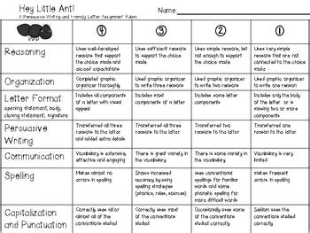 hey  ant extension activity rubric  travel teach