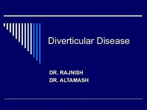 Diverticular Disease Of Colon
