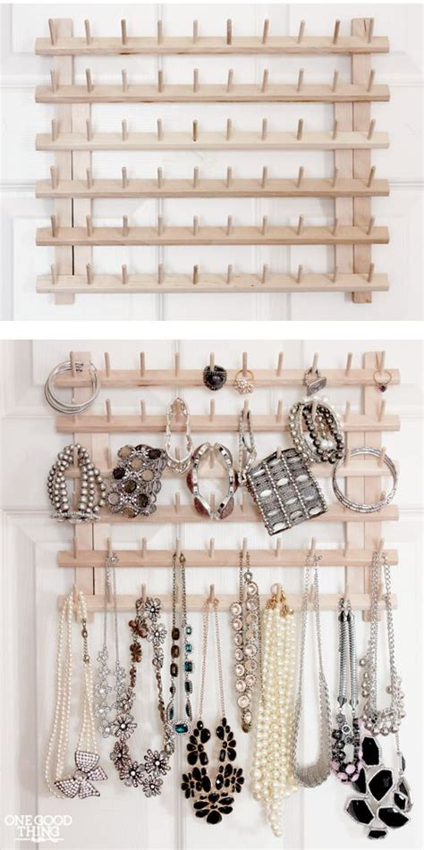 Get Organized Clever Jewelry Storage by More Clever Jewellery Storage Ideas Peacock Lime