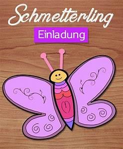 Schmetterlinge Basteln Zum Aufhängen : bastelvorlage und anleitung f r schmetterlings einladung ~ Watch28wear.com Haus und Dekorationen
