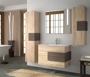 Salle De Bain En Bois : meubles lave mains robinetteries meuble sdb meuble de salle de bain suspendu 80 cm cronos ~ Teatrodelosmanantiales.com Idées de Décoration