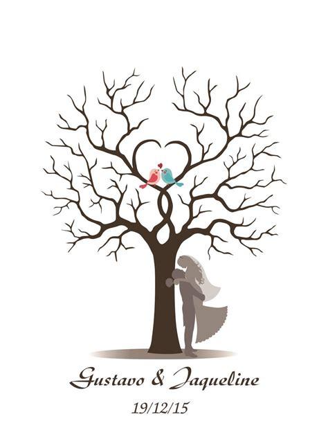 2019 high quality canvas wedding prints personalize wedding fingerprint tree print wedding gifts