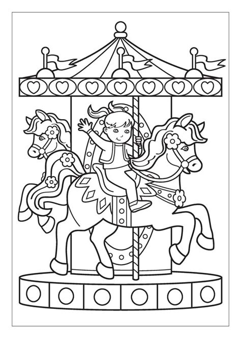 Carousel Book Template by Carousel Coloring Skull Coloring Pages