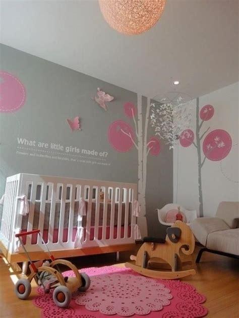Babyzimmer Gestalten Rosa Grau by Babyzimmer Ideen Rosa Teppich Wanddeko Graue Wandfarbe