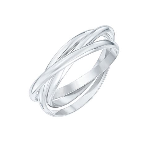 sterling silver intertwined russian 3 band ring size s h samuel