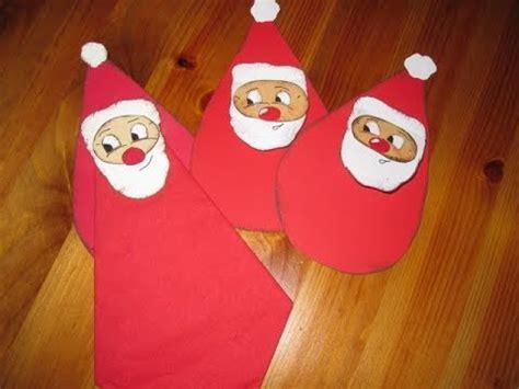 bastelideen kinder weihnachten weihnachtsbasteln nikolaus als serviettenhalter basteln bastelideen weihnachten