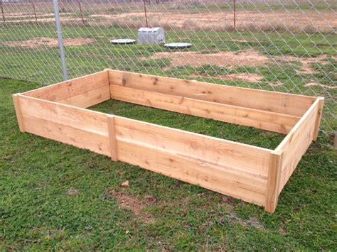 cedar raised garden beds white cedar garden bed diy projects