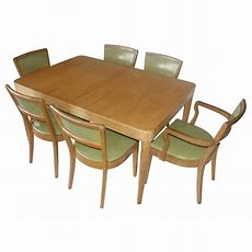Vintage Oak Dining Table And (4) Side Chairs Set  Ebay